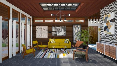 Mid Century Modern LR - Living room - by luna smith