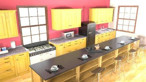first kitchen - Rustic - Kitchen - by designluvr