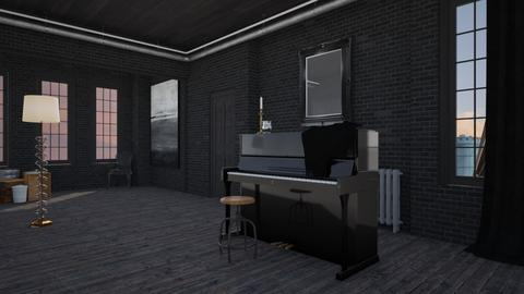 In the old warehouse - Minimal - Office - by HenkRetro1960