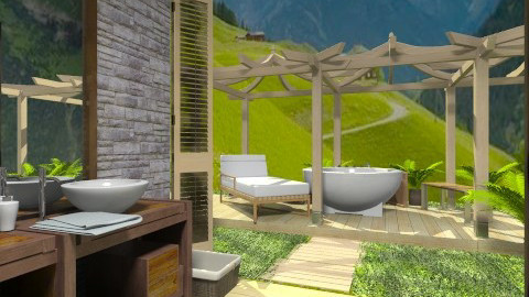 outdoor - Classic - Bathroom - by tita