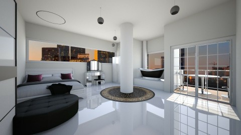 New York Bedroom - Modern - Bedroom - by Mary Young