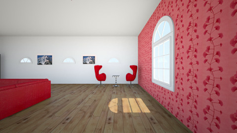 red black - Living room - by howlin