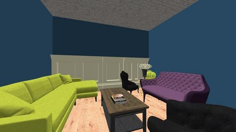 triadic color scheme - Living room - by makennabond