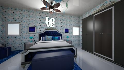 A Blue Dream - Bedroom - by lilly_mist