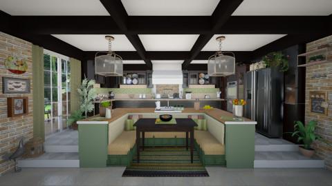 Big Kitchen - Rustic - Kitchen - by maja97