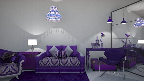Purple Overload - Modern - Living room - by XiraFizade