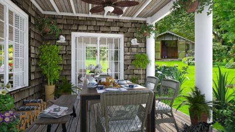 Design 291 Country Breakfast - Garden - by Daisy320