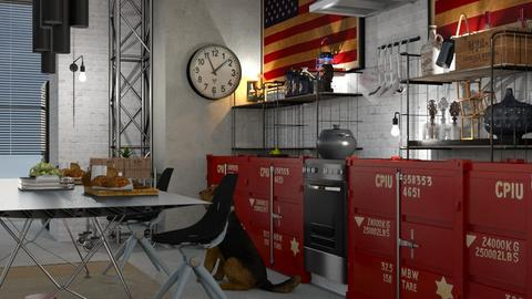 Red_Factory - Kitchen - by ZuzanaDesign