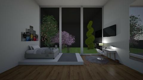 Grey Bedroom - by Menahkarimi