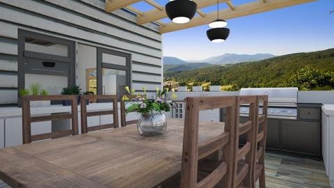 Outdoor kitchen - Kitchen - by The quiet designer