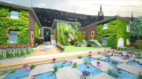 roof garden over toon - Garden - by Conchy