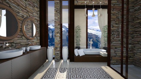 mountain bath - Bathroom - by Senia N