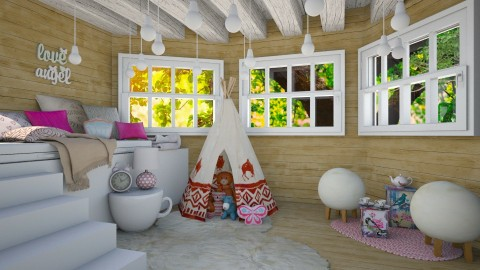 Tree house - Kids room - by Liu Kovac