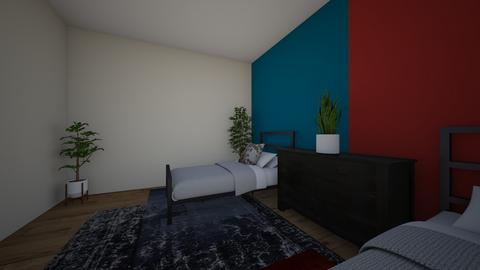 blue and red kids room - Kids room - by junior123mgvyfv