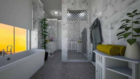 Showering MArble - Modern - Bathroom - by Veny Mully