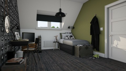 Teen Boy - Bedroom - by MandyB84