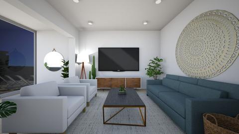 mid century modern living - Living room - by chloejanee33