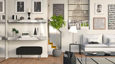 Black and White - Modern - Living room - by Sally Simpson