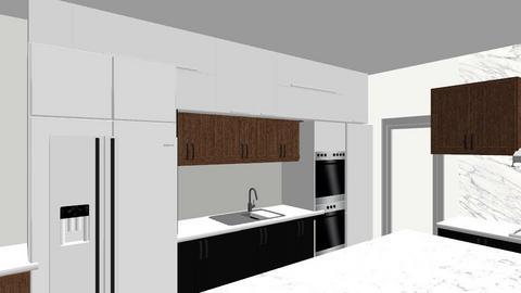 joy kitchen white w wood - Kitchen - by NielsonInteriors