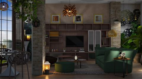 M_ Jungle living - Living room - by milyca8