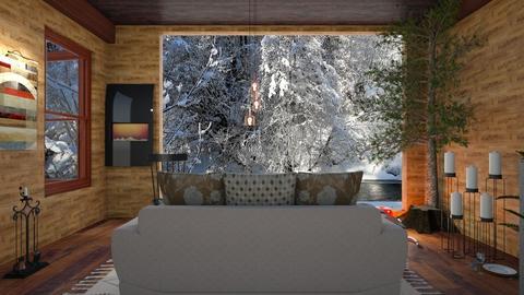 Dark cabin - Living room - by Wildflowers