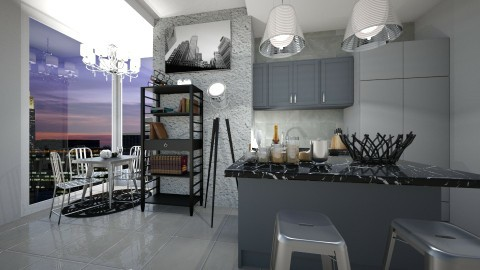 Grey - Kitchen - by CatLover0110