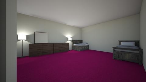 Twins Bedroom  - Kids room - by omgitsronnie