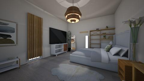 minimalist beige  bedroom - Minimal - Bedroom - by i l o n a