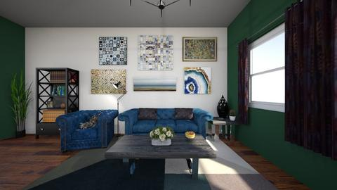 Moody Blue Living Room - Classic - Living room - by Alicia R