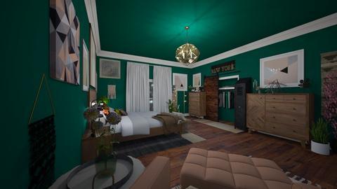 Industrial Meets Pastel - Feminine - Bedroom - by Jodie Scalf