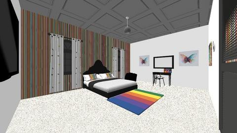rainbow - Retro - Bedroom - by lamberm20