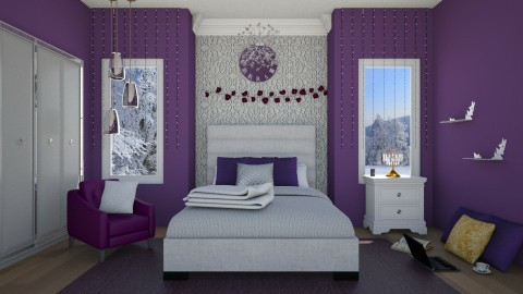 Queen Bed Room by Uroosa - Retro - Bedroom - by Uroosa Bint E Haroon