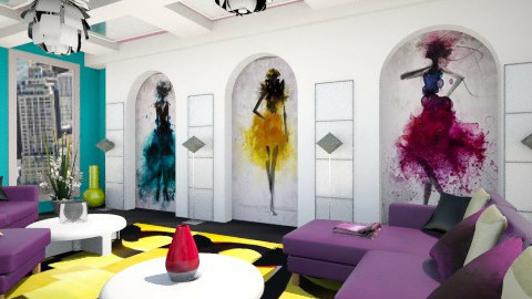 Fashion Splatter - by Regina Egan