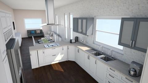 Open kitchen - Modern - Dining room - by Loraine Mariette