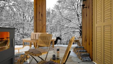 Design 247 Cabin in Winter Wonderland - Garden - by Daisy320