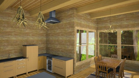Cabin Kitchen - Rustic - Kitchen - by DiamondJ569
