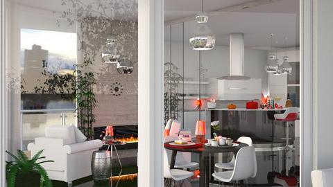 living red - Living room - by soralobo