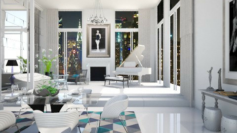 Blue 44 - Eclectic - Dining room - by AlSudairy S