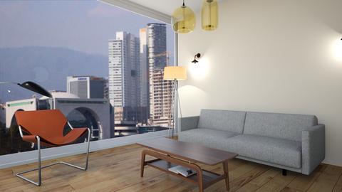 planta alta primer cuadro - Living room - by EYSB
