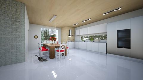 skandynawski  top - Kitchen - by Marta Perkowska