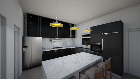 Nite kitchen - Kitchen - by Odilz