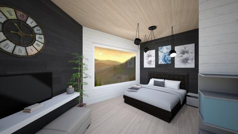 BandW Minimalist Bedroom - Minimal - Bedroom - by LSCo