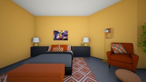 Orange is the new black  - Modern - Bedroom - by Katiemichellegilbert