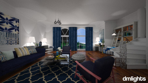 Shibori2 - Living room - by DMLights-user-982019