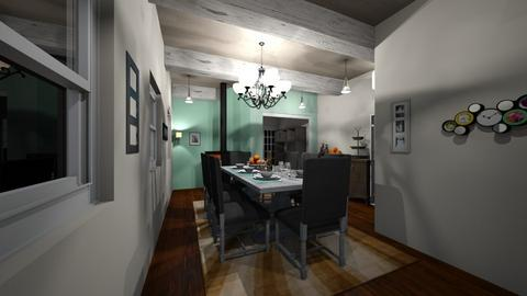 My learning phase - Dining room - by Apollozodiac