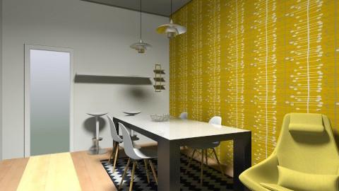 SAM dec fauteuils jaunes - Dining room - by johanne