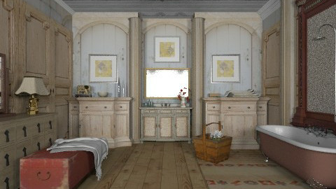 antique  setusrtu - Rustic - Bathroom - by panasobeaver
