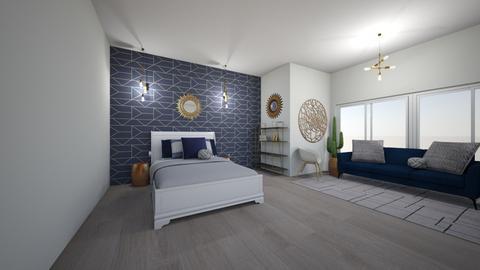 blue geometric room - by izzymondo