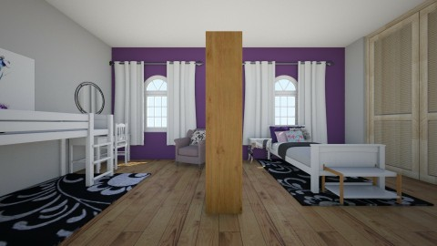 Shared Girls Bedroom - Bedroom - by Spannergee