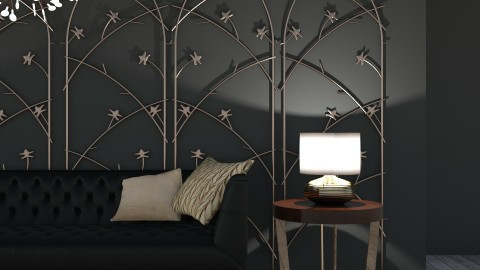 l i v i n g - Glamour - Living room - by _xandra_